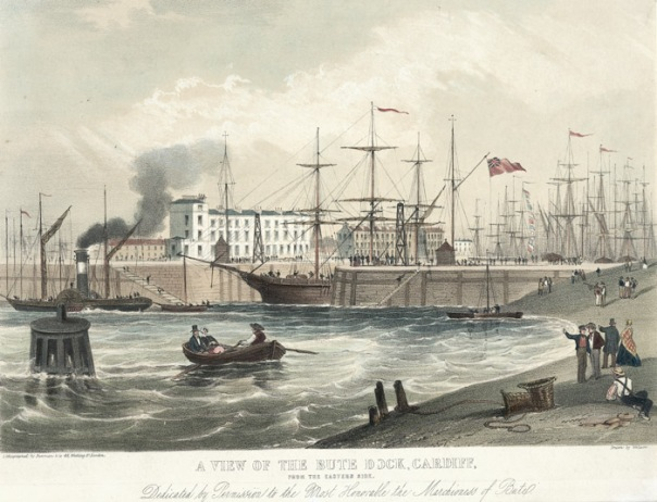 A_view_of_the_jubilee_dock,_Cardiff,_from_the_eastern_side