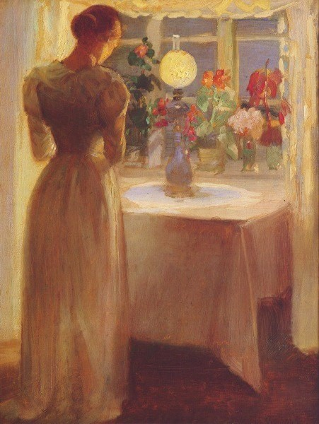 Young_Girl_Before_a_Lit_Lamp_(Anna_Ancher)